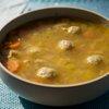 Ashkenazic Chicken Soup and Matzo Balls with Fresh Dill