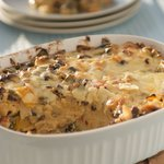 Cheesy Black Bean Enchilada Casserole