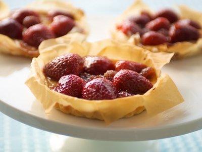Berries and Ricotta  Mini Phyllo Tarts