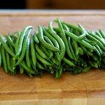 Prepare the green beans