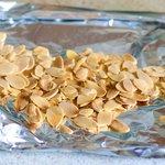 Toast the sliced almonds
