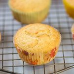 A close-up shot of these moist, lemony and fluffy cupcakes.
