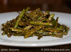Roasted Sesame Balsamic Asparagus