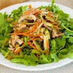 Top with freshly seasoned vegetables mixture