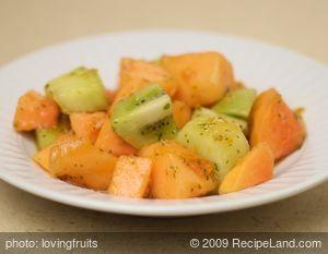 Mixed Fruit Salad with Citrus Mint Dressing