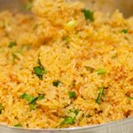 Perfect mexican rice, ready for serving