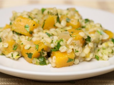 Butternut Squash and Pearl Barley Pilaf