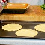Softening the corn tortillas