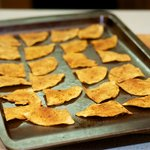 Bake for 10 minutes or until crisp, golden and slightly brown.