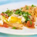 The finished dish, Huevos Rancheros
