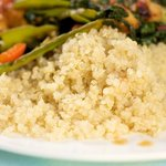 Here a close-up shot of quinoa.