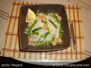 Fresh Asparagus-Shrimp Rice
