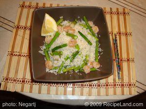 Fresh Asparagus-Shrimp Rice