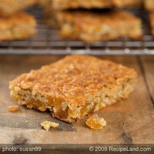 Amazing Chewy Crispy Apricot Walnut Energy Bars