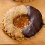 Almond Apricot and Chocolate Sandwich Cookies