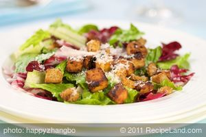 Caesar Salad with Roasted Tofu