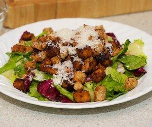 Caesar Salad with Roasted Tofu