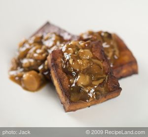 Roasted Tofu With Oyster Mushroom Gravy