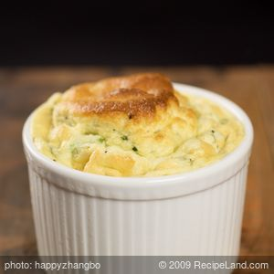 Broccoli Goat Cheese Soufflé