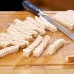 Slice the bread into 1/2 to 1-inch slices...