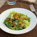 Refreshing and delicious caesar salad.