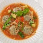 Ravioli with Fresh Vegetable Soup