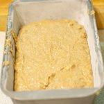 Transfer batter into the prepared loaf pan...