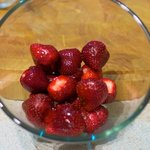 Prepare the 1 quart of the strawberries...