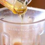 Pour the honey...