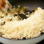 Add rice...