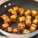 Brown the paneer in two batches makes it a lot easier