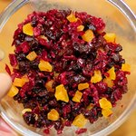 Mix up all the chopped dried fruits, and set aside...