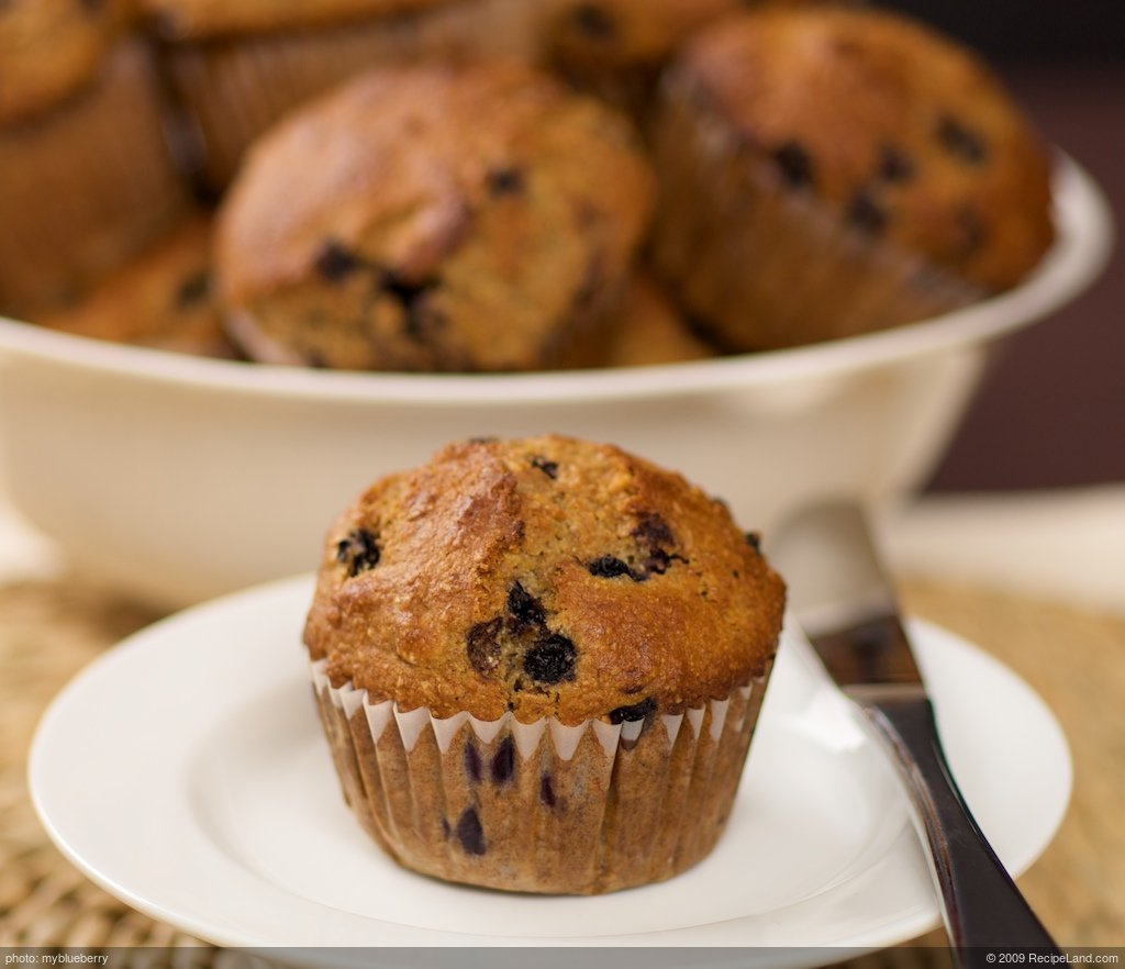 Whole wheat ginger blueberry muffins