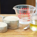 The ingredients for the chapati dough