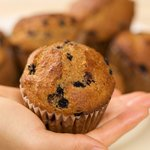 Multigrain Blueberry and Ginger Muffins