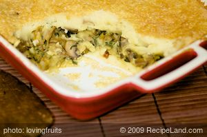 Sauteed Mushroom and Layered Mashed Potato Casserole