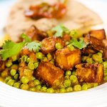 Delicious Paneer with Peas