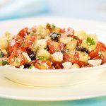 The Greek style Succulent Cherry Tomato Salad