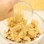 Add the chopped hazelnuts in a small or medium bowl...