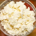 Coarsely crumble the feta cheese...
