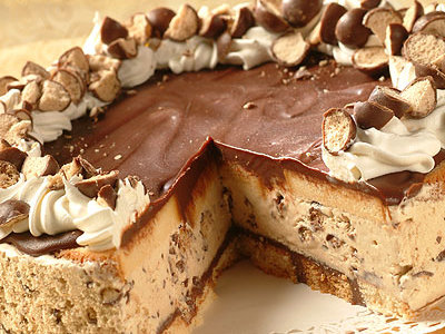 Frozen Chocolate Cappuccino Crunch Cake