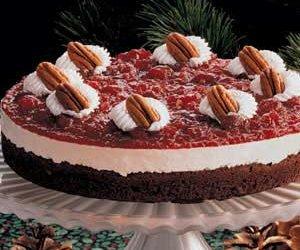 Cranberry Brownie Torte