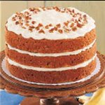 Banana Pecan Torte with Cream Cheese Frosting