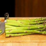 Prepare the asparagus.