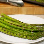 perfectly grilled asparagus.