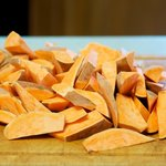 Here we have the almost perfect sweet potatoes wedges.