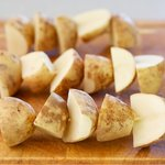 Prepare the potatoes.