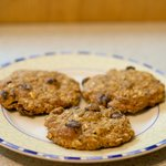Chocolate Pumpkin Oatmeal Cookies