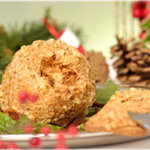Sun-Dried Tomato Cheese Ball Rolled in Walnuts