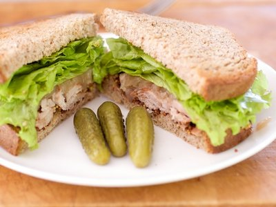 Grilled Pork Tenderloin and Onion Marmalade Sandwich